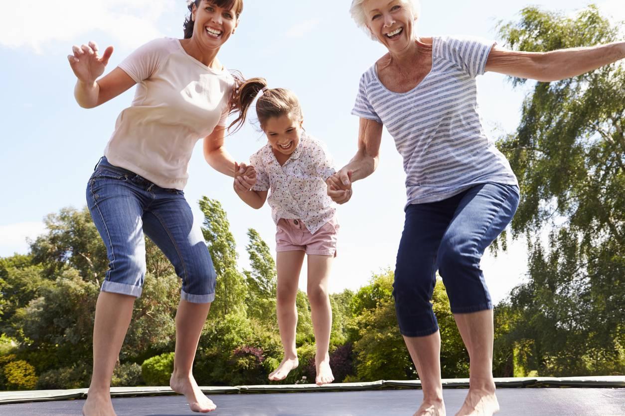 trampoline pour enfants et parents
