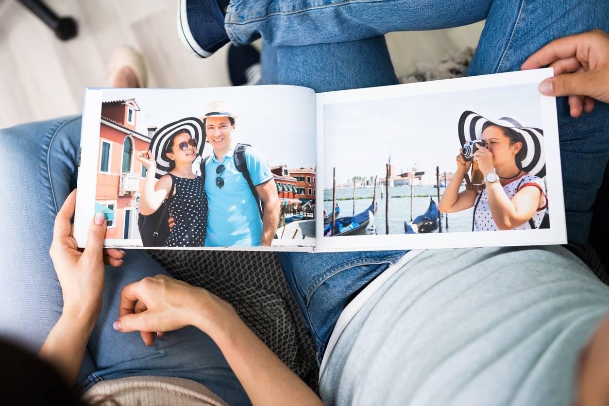 album photo, mises en page