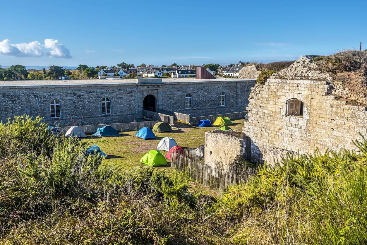 camping sous tente en Bretagne
